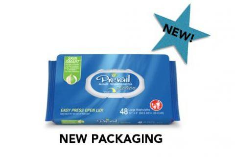 """Prevail Washcloths, 8""""x12"""", Soft Pack with Lid"""
