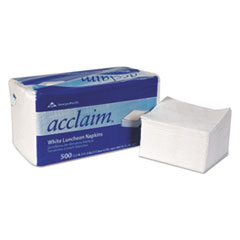 """Acclaim Napkins - 1ply 12.5"""" by 11.5"""" white 6000 ct."""