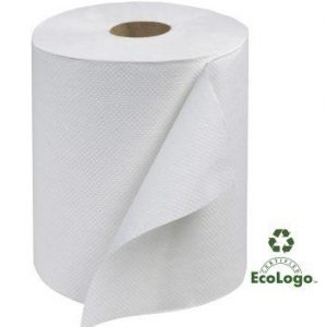 Towels, Hardwound, White 8in.x600ft.