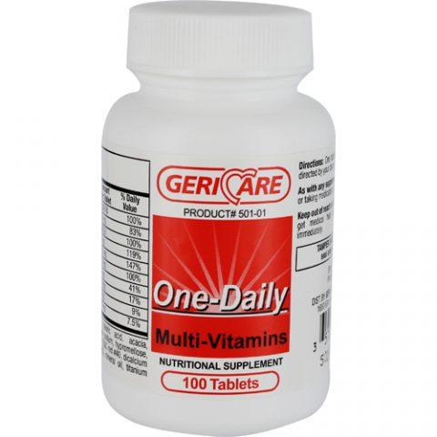 GeriCare Multi-Vitamin Tabs, (One-A-Day Substitute)