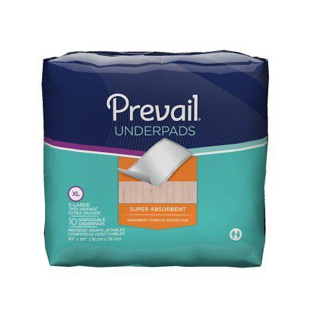 "Prevail Super Absorbent Underpads 30"" x 30"""